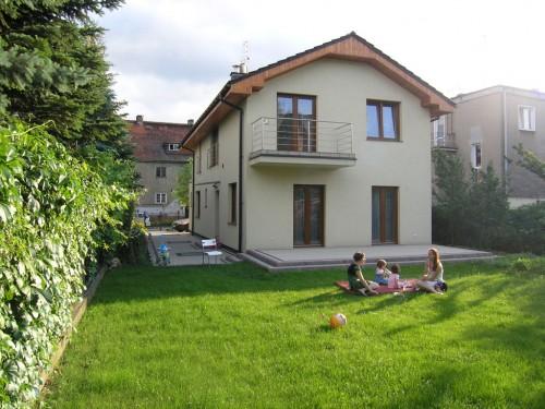 Dom jednorodzinny we Wrocławiu. Strefa ogrodowa